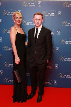 8/11/13 COlm Cooper and Geraldine Murphy at the Opel GAA/GPA All-Star Awards 2013 in Croke Park, Dublin. Picture:Arthur Carron/Collins