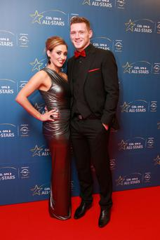 Paul Flynn and Fiona Hudson at the Opel GAA/GPA All-Star Awards 2013 in Croke Park, Dublin. Picture:Arthur Carron/Collins