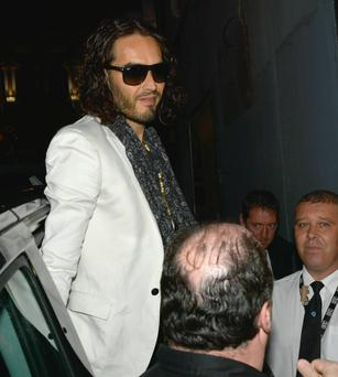 Last night, things weren't quite so wild for Russell Brand.