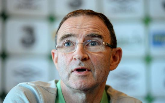 Republic of Ireland manager Martin O'Neill speaking during a press conference ahead of their Three International Friendly match against Latvia on Friday.