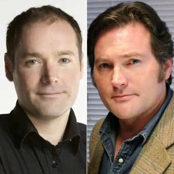 Newstalk's Henry McKean and Love/Hate's Peter O'Meara