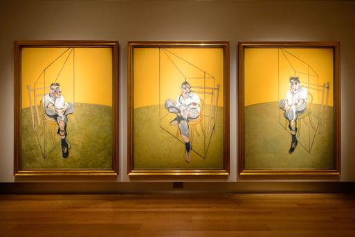The Francis Bacon painting of his friend and fellow artist Lucian Freud has become the most valuable work of art ever sold at auction - fetching almost £90m
