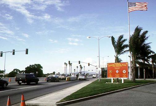 The main gate of Camp Pendleton. Picture: Wikipedia