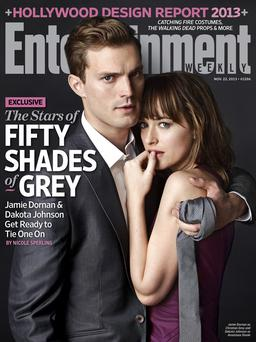 Jamie Dornan on the front cover of US magazine Entertainment Weekly.