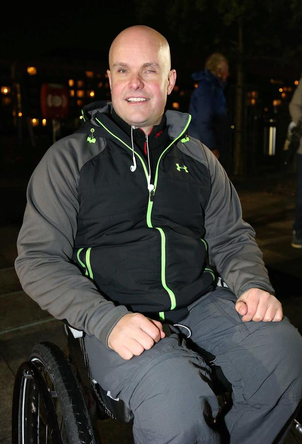 Mark Pollock pictured before the Run in the Dark