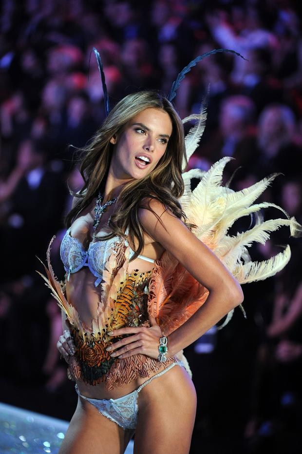 6f8e7afacb Alessandra Ambrosio walks the runway at the 2013 Victoria s Secret Fashion  Show