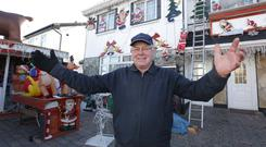 Des Murphy, who had a Xmas decoration taken from his garden in Thorndale avenue, Artane. Picture credit; Damien Eagers / Evening Herald 12/11/2013
