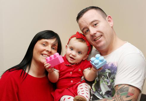 Ger Thompson with his wife Noreen and daughter Elllianna