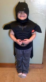 Five-year-old Miles Scott dressed as Batman. With the help of the Make-A-Wish Foundation and the city of San Francisco, 5-year-old Miles Scott, aka Batkid, will rescue a woman from cable car tracks and capture the evil Riddler as he robs a downtown bank. Miles, who lives in Tulelake in far Northern California, was diagnosed with leukemia when he was 18 months old, ended treatments in June and is in remission