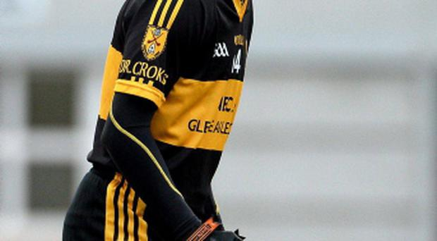 Colm Cooper, Dr. Crokes, encourages his team-mates during the game today