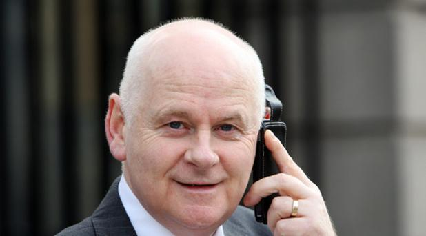 Labour Senator Jimmy Harte at Leinster House yesterday.Pic Tom Burke 22/2/12