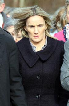 Hazel Stewart arriving at Coleraine Court during her March 2011 trial. PRESS ASSOCIATION Photo.