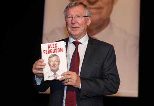 Alex Ferguson pictured launching his new book, Alex Ferguson, My Autobiography at the National Convention Centre in Dublin