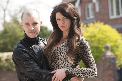 Tom Vaughan-Lawlor who plays Nidge and Aoibhinn McGinnity who plays Trish on RTE's Love/Hate