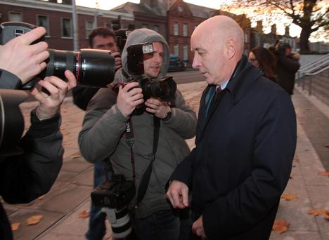 Anthony Lyons leaving the Court of Criminal Appeal in Dublin this evening