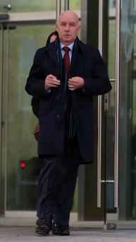 Anthony Lyons leaving the Court of Criminal Appeal in Dublin