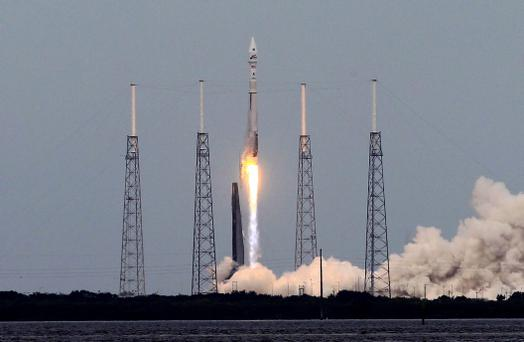 An Atlas V United Launch Alliance rocket lifts off from the Cape Canaveral Air Force Station carrying NASA's Mars Atmosphere and Volatile Evolution (MAVEN) spacecraft in Cape Canaveral, Florida