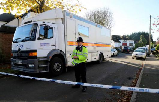 Police activity near a property in Warlingham, Surrey