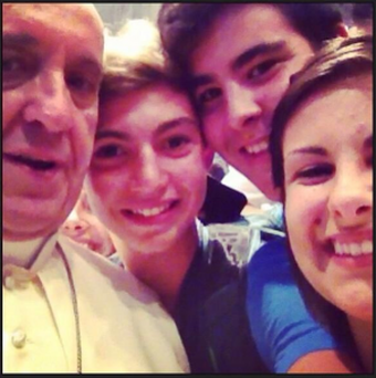 The world's first Papal selfie.