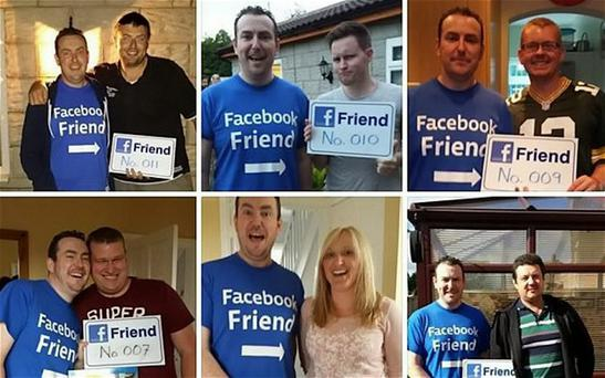 A social media fan has challenged himself to meet every single one of his 730 Facebook friends - in person. Photo: Newsteam