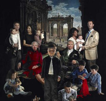 Artist Thomas Kluge's portrait of the Danish Royal Family has been described as a creepy, Gothic, shadowy horror film poster. <a href='http://cdn3.independent.ie/incoming/article29770325.ece/binary/horrorpic.JPG' target='_blank'>Click to see a bigger version of the photo</a>