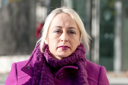 Gail O'Rorke leaving Dublin District Court