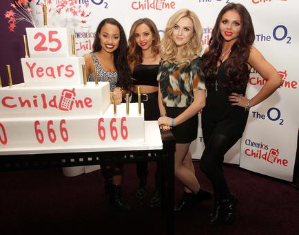 Little Mix (L-R) Leigh-Anne Pinnock ,Jade Thirwall, Perrie Edwards and Jesy Nelson
