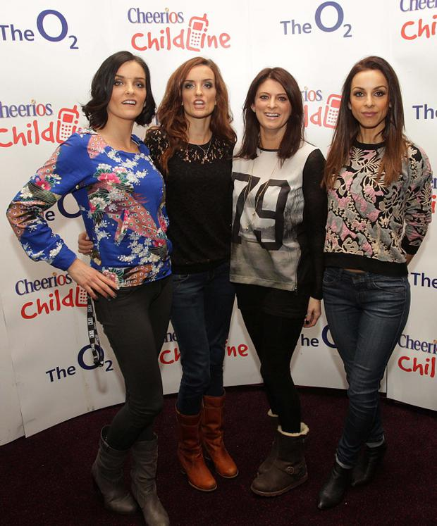 B*Witched (L-R) Sisters Keavy and Edele Lynch, Sinead O'Carroll and Lindsay Armaou