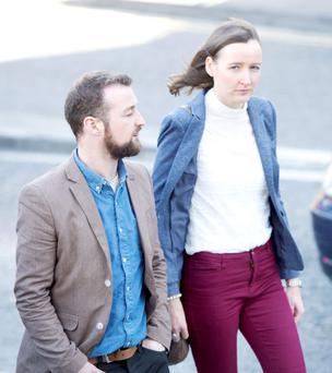 Catherine and David Clancy at the Coroner's court in Galway