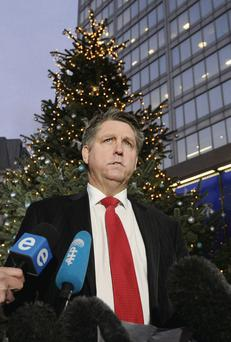 Detective Inspector Kevin Hyland speaks to the press outside New Scotland Yard in London yesterday