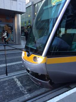 Luas crash occurred just after 9am this morning