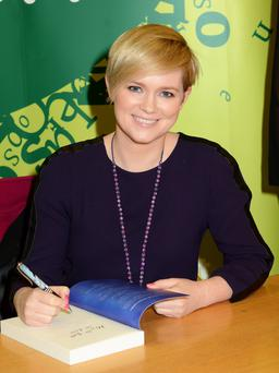 Cecelia Ahern signs her new book 'How to Fall in Love'