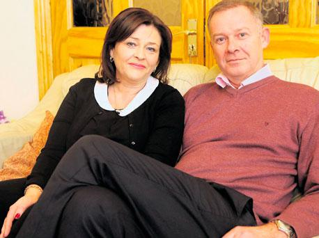 Aideen Costigan and her husband Paul at their home in Stillorgan, Dublin.
