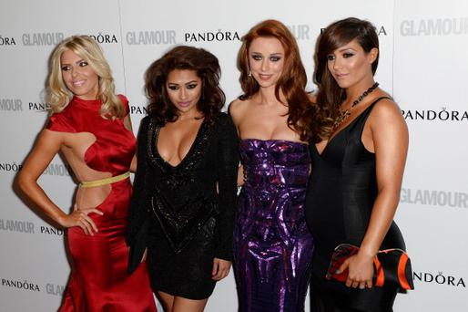 Mollie King, Vanessa White, Una Healy and Frankie Sandford of The Saturdays.