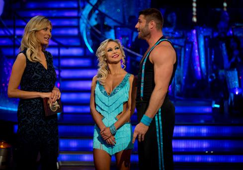 Ben Cohen and Kristina Rihanoff leaving the competition