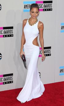 All White on the Night: Nicole Richie wears a stunning cut-out Emilio Pucci gown