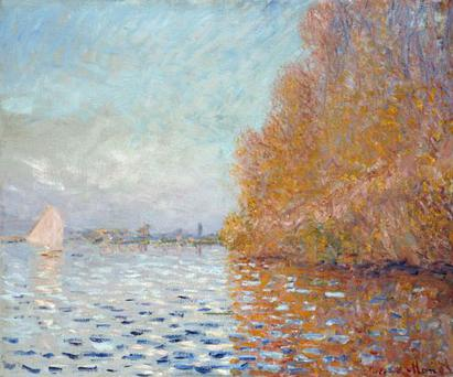 Andrew Shannon (48) is accused of putting his hand through Ireland's only painting by the famous French impressionist, entitled Argenteuil Basin with a Single Sailboat (above)