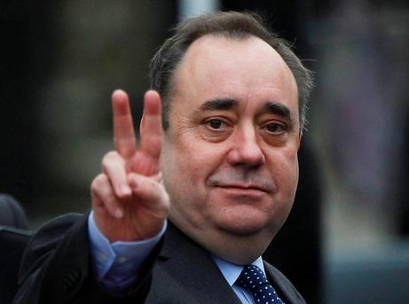 Scotland's First Minister and leader of the Scottish National Party Alex Salmond
