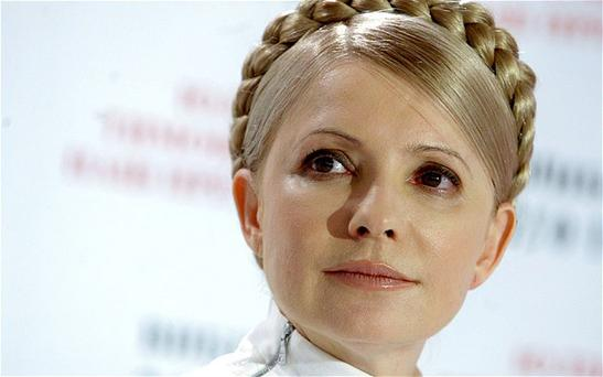 Ukraine's imprisoned opposition leader Yulia Tymoshenko