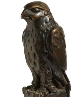 The statuette of the Maltese Falcon sold for $4 million at auction in New York