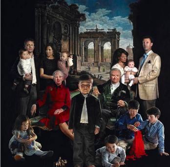 The painter responsible for the first official portrait of the Danish royal family for 125 years has expressed his surprise at the outcry over it