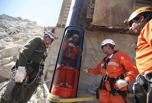 Mincon equipment was used in the rescue of 33 miners trapped in Chile in 2010