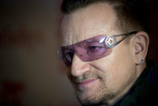 Bono has been prominent in raising funds for AIDS research and attended a charity auction at Sotheby's in New York earlier this week
