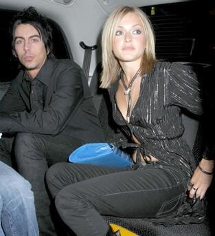 Convicted paedophile Ian Watkins with former girlfriend Fearne Cotton. (Photo: Rex)