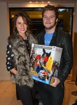 Transformers: Age of Extinction actor Jack Reynor at Brown Thomas with girlfriend Madeline Mulqueen
