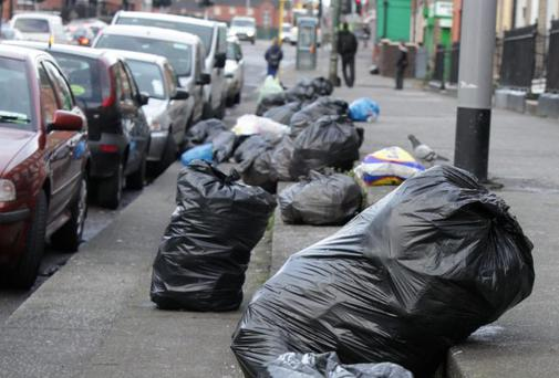 Rubbish at Ballybough Road in Dublin earlier this year