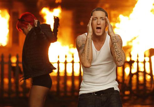 A scene from one of Eminem's videos