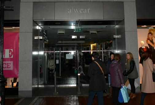 A-Wear clothes shop on Grafton Street closed after it was announced a receiver has been appointed