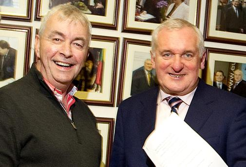Paul Kiely, formerly of the Central Remedial Clinic, pictured with former Taoiseach Bertie Ahern