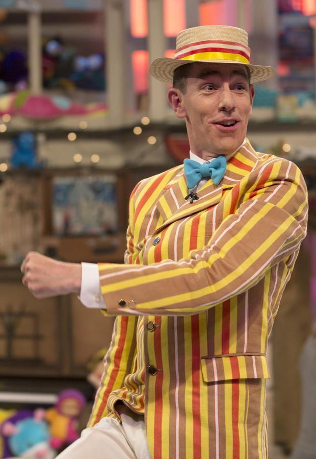 Ryan Tubridy performing on the Late Late Toy Show